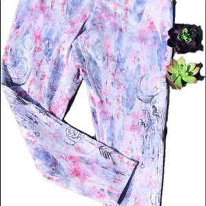 Pastel work out cropped leggings size L